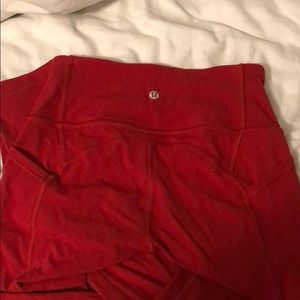 lululemon athletica Pants - Red lululemon leggings all the right places